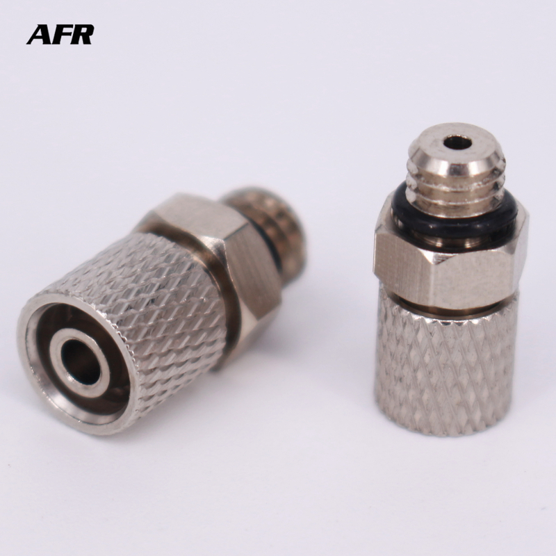 Miniature Fittings M 6H 4 PC Male Thread M6 Tube 4mm 6 Pneumatic Pipe Air Hose Quick Fitting Mini Connecto in Pneumatic Parts from Home Improvement