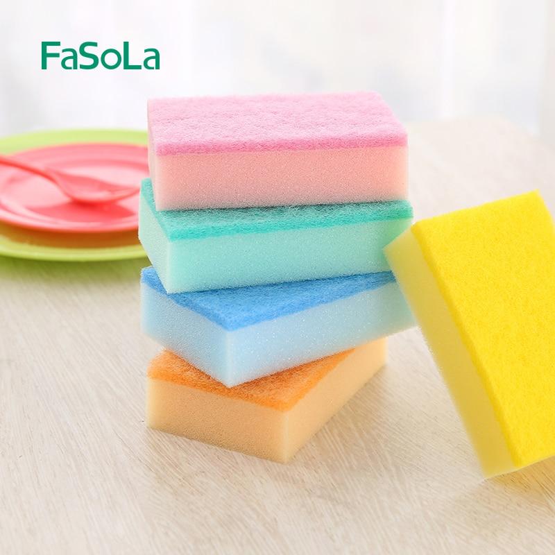 5pcs 20*80*150mm Kitchen Cleaning Sponge Rub Sponge For Cleaning Homeware Kitchen Sponge Removing Rust Rub