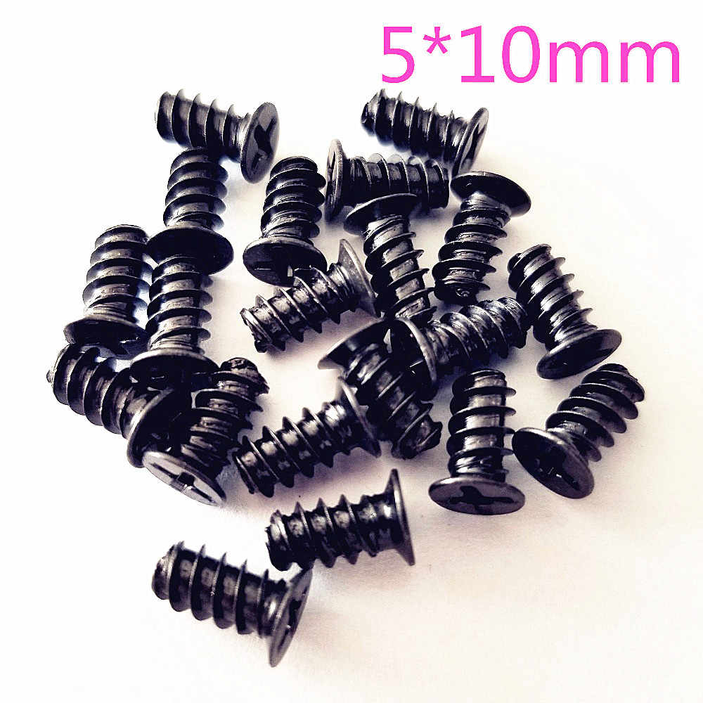20pcs/pack DS743 Black Plating 5*10mm Self-tapping Screws Case Fan Screw Free Russia Shipping