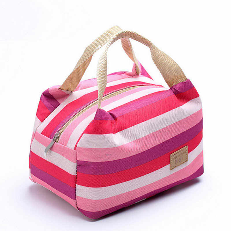 New Portable Thermal Insulated Lunch Bag Outdoor handbag Lunchbox Bag Lady Carry picinic Food Tote Zipper Picnic Bags Jan10YP