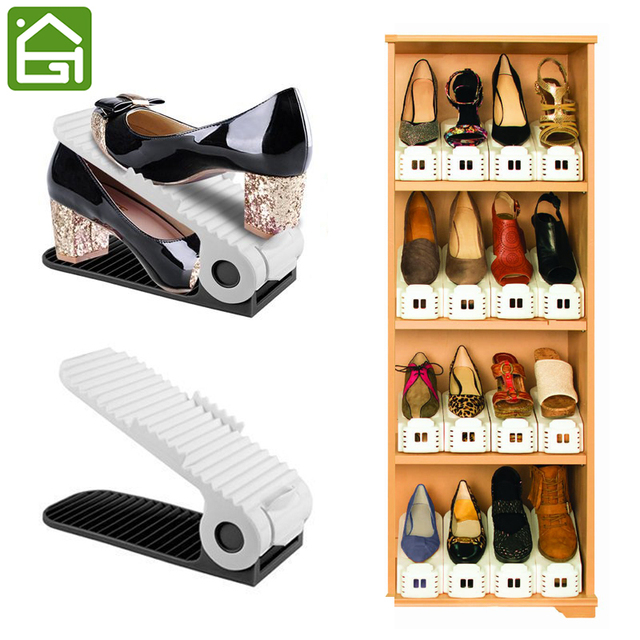 Exceptionnel 5 PCS Extra Durable Adjustable Shoes Storage Double Cleaning Shoe Organizer  Save Space Holder Living Room