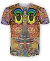 2016 New Saintart T-Shirt Colorful character sun t-shirt 3d print trippy fashion t shirts tees tops moletom plus size S-XXL