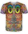 2016 nueva Saintart camiseta colorida dom carácter camiseta de la impresión 3d trippy camisetas de moda camisetas tops moletom más el tamaño S-XXL