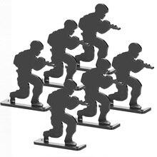 Страйкбол цель Военная Черная Стрельба Цель(6 шт.) стоящая армейская форма стиль цель для охоты