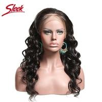 Синтетические волосы на кружеве человеческих волос парики свободные волна плотности 150% 360 Синтетические волосы на кружеве al парик sleek Волос