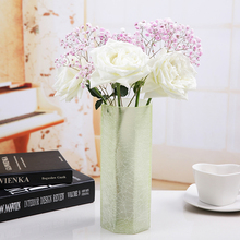 Creative Fashion Modern Color glass vases Home decor Furnishing flower vase  tabletop arts and crafts wedding Decor