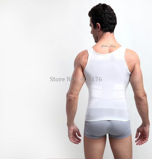 Slimming Shaper PRAYGER 2pcs Men Gynecomastia Control Belly Tops Tummy Trimmer UnderShirts X Support Back Body Vest 2