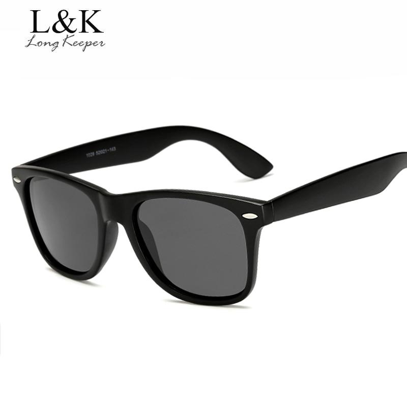 Gafas de sol polarizadas Retro Unisex marca Long Keeper hombres mujeres  Vintage gafas Accesorios negro gris 0da3961472