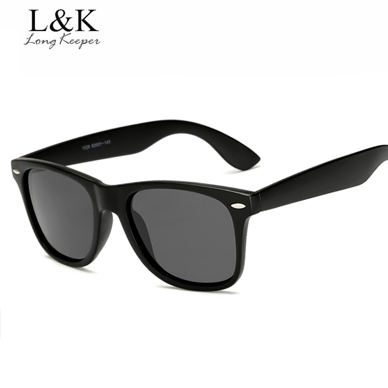 Long Keeper Brand Unisex Retro Polarized Sunglasses Men Women Vintage Eyewear Accessories Black Grey Sun Glasses For Male/Female
