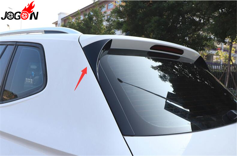 Back Window Rear Spoiler Side Wing Splitter Trim For VW Tiguan MK2 2017-18