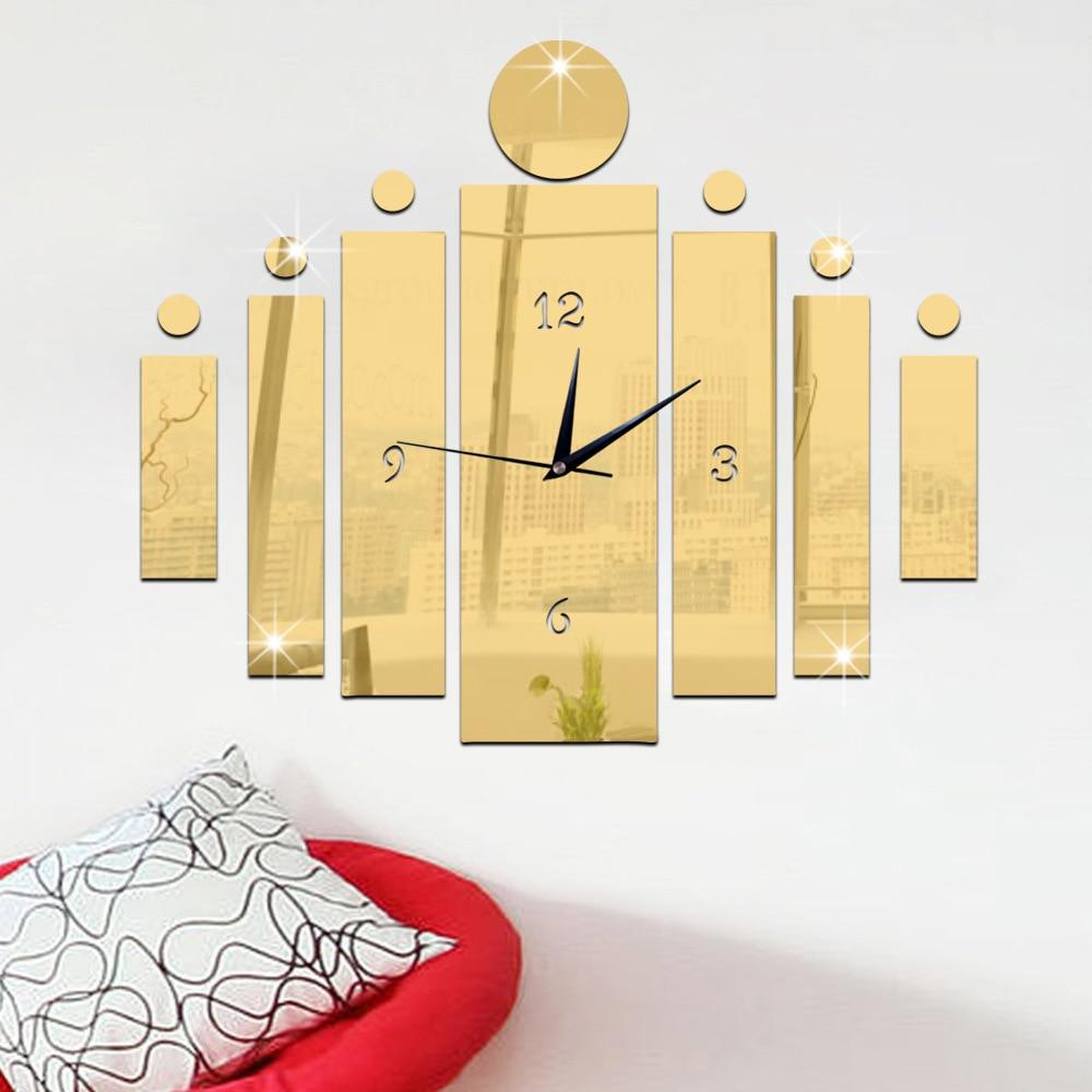 2017 new creative diy quartz wall clock sitting room