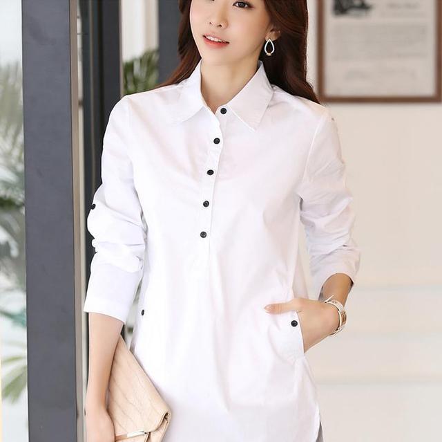 Elegant Blouse White Shirt Women Size S-3XL Ladies Office Shirts Formal Casual Cotton Blouse Fashion Blusas Femininas