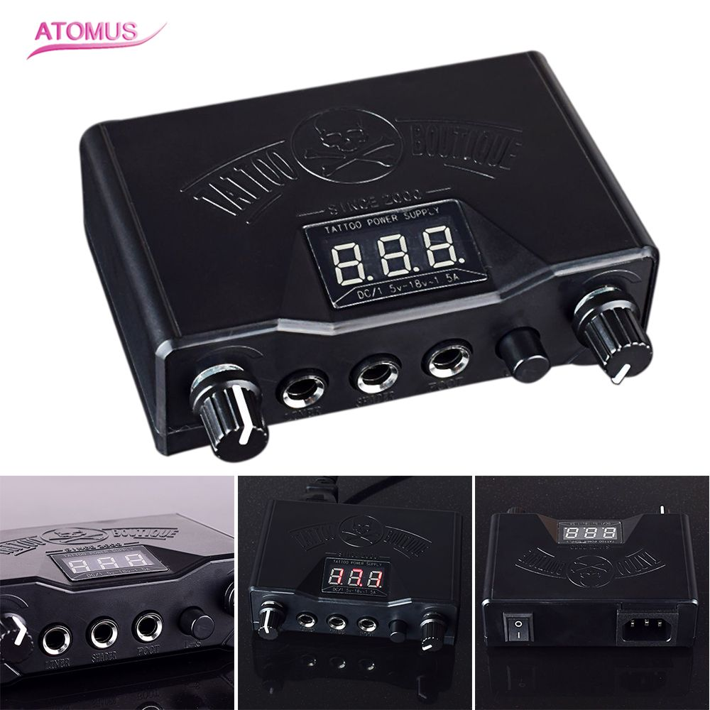 Tattoo Power Supply Black Dual Digital LCD Tattoo Machine Power Supply Tattoo Machine Gun Power Supply jf0501 32636 power supply