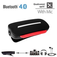 Avantree AptX 2 In 1 Bluetooth 4 0 Receiver And Wireless Clip On Headset With Built