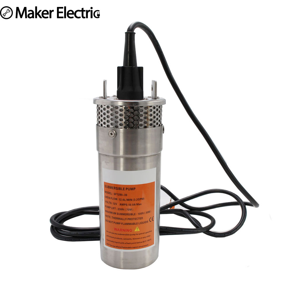 New generation Solar Submersible pump durable stainless portable high pressure long service time low noise For Garden Deep well hand pump well pressure pump well oil pump hand pressure cast iron deep well thick and durable