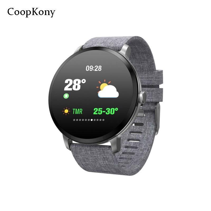 Coopkony Smart Watch Smart Band IP67 Waterproof Heart Rate Monitor Remote Control Camera Men Women Smartwatch IOS Andriod Watch