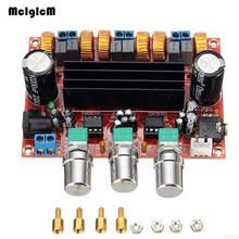 лучшая цена TPA3116D2 Digital Subwoofer Amplifier Board DC12V-24V 2x50W 100W XH-M139 2.1 Channel Digital Power Amplifier for DIY Audio