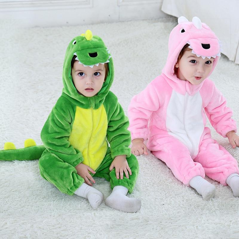 Baby   Rompers   Baby Girl Clothes dinosaur Kigurumi Kids Onesie Anime Cosplay Costume New Born Boy Pajama Flannel Warm Soft Jumpsui