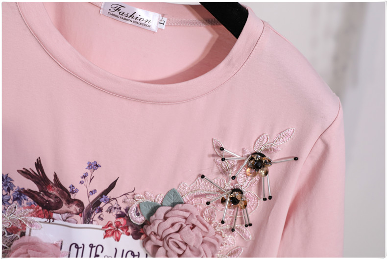 3D Flowers Stylish T Shirts 10