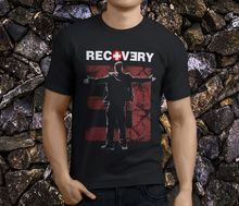 цена Summer Sleeves Cotton Fashion T Shirt Short Sleeve Men Eminem Recovery Men'S Black Short Crew Neck T Shirts в интернет-магазинах