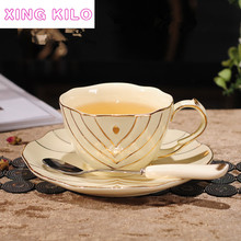 XING KILO High-grade ceramic continental coffee cup and saucer set British simple Phnom Penh afternoon tea