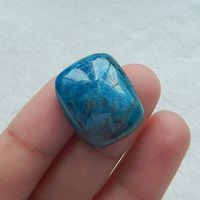 Natural Stone Charms Blue Apatite Crystal Natural Blue Stone Bead Hot Gemstone Cabochon For Gift 21