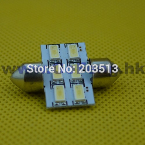 10pcs/lot in stock new auto led car 12v C5W Festoon lights 6 smd 5630smd 6 leds nice color bulb free shipping