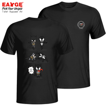 An Impossible Fusion Between Batman And Venom T-shirt Cool Active T Shirt Pop Novelty Women Men Cotton Black Double Sided Top