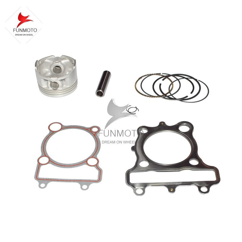 PISTON AND PISTON RINGS /PIN / CIRCLIP/GASKESTS  FOR JIANSHE 250-5 LONCIN 250-F KINLON 250   MODEL IS JS-FG LC171FMM  piston piston pin piston rings circlip suit for hisun 700cc hs700 atv engine parts