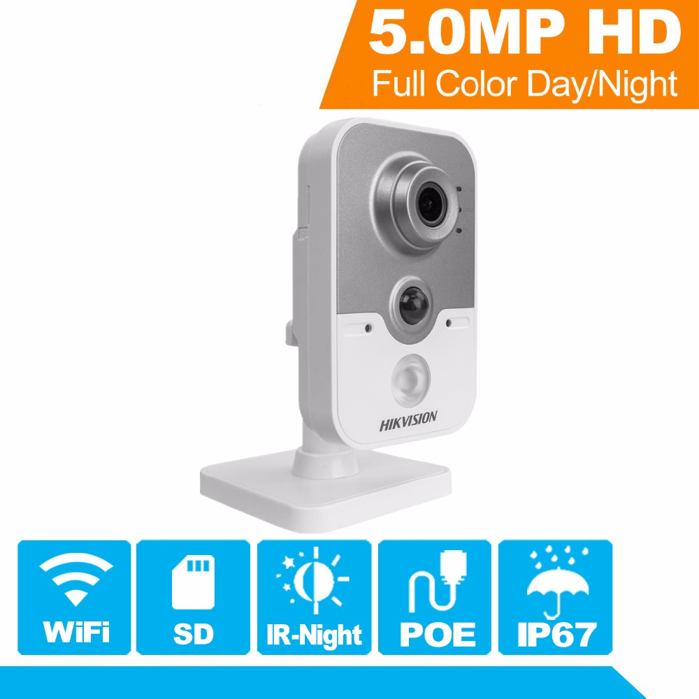 In Stock Hikvision WiFi Camera DS-2CD2452F-IW 5MP CMOS IR Cube Wireless IP Camera Outdoor/Indoor PoE IP Camera Built-in SD & Mic стоимость