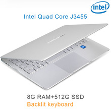 "P9-19 silver 8G RAM 512G SSD Intel Celeron J3455 22"" Gaming laptop notebook desktop computer with Backlit keyboard"