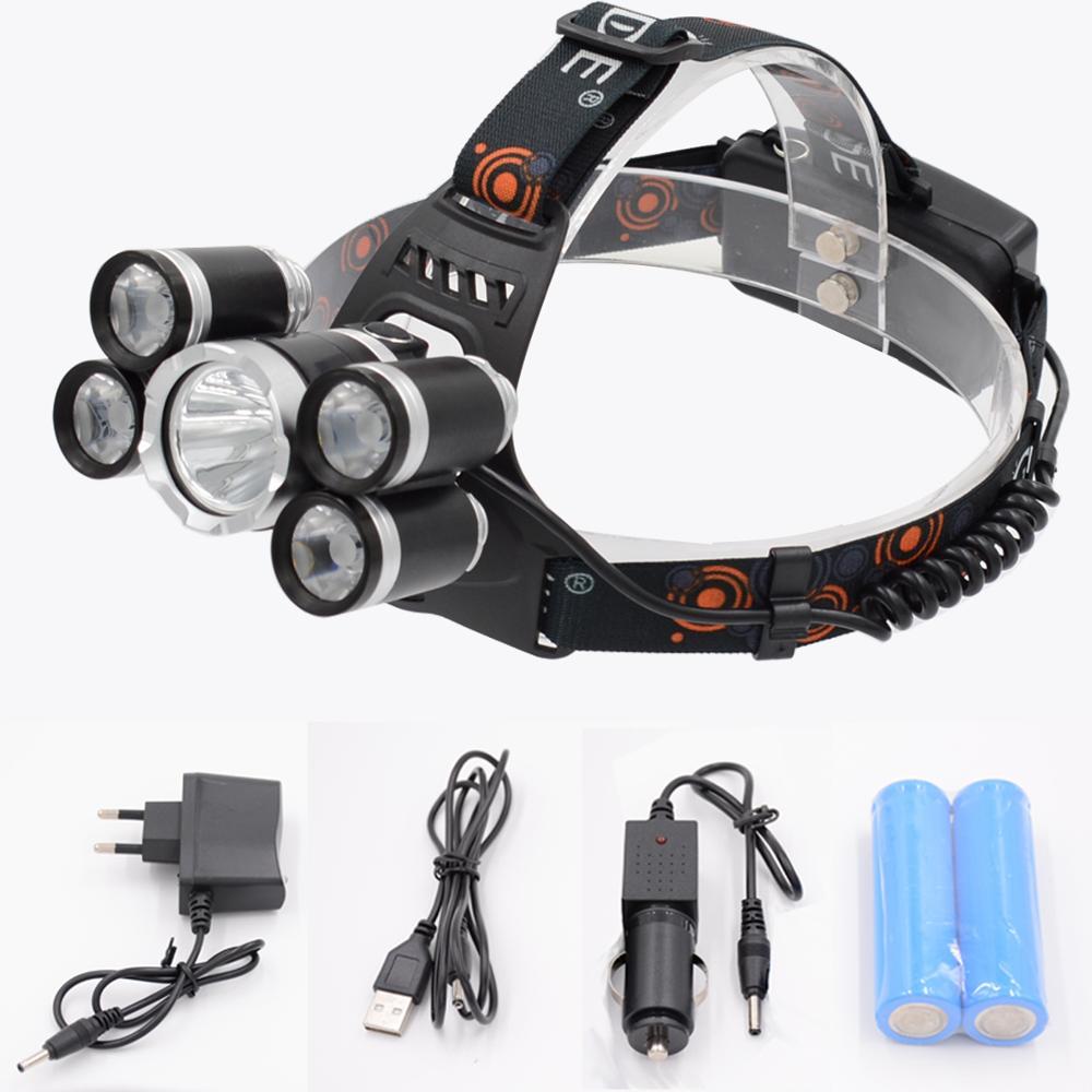 Waterproof USB Rechargeable LED Headlamp Flashlight Head Torch Headlight V0F3