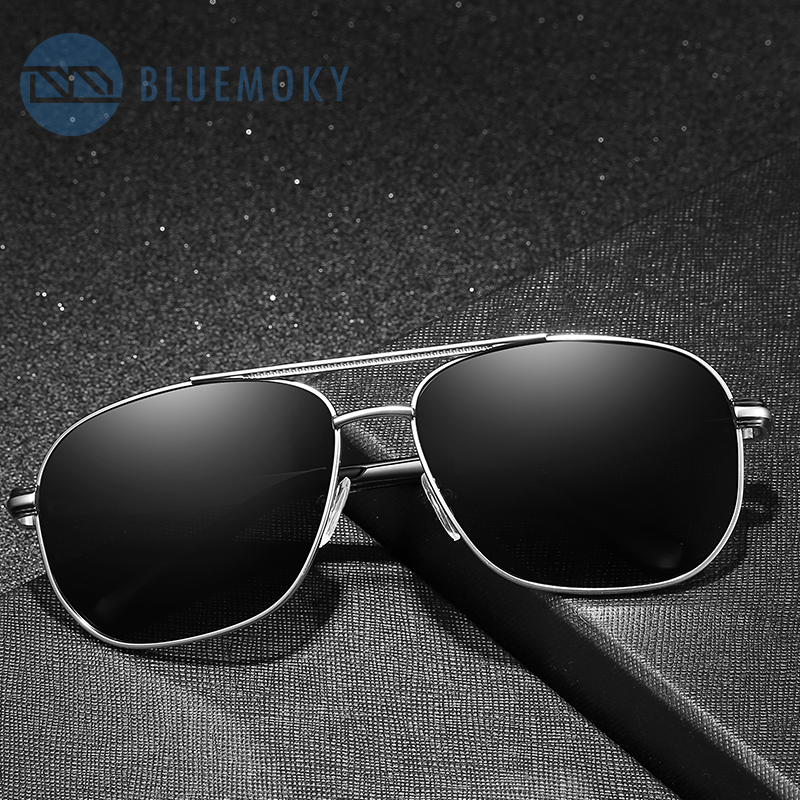 BLUEMOKY Pilot Prescription Glasses Men UV400 Polarized Sunglasses Prescription Eyewear Polarized Lenses Brand Design New BT6106(China)