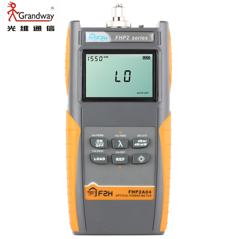 Grandway FHP2A04 Rechargeable Fiber Optical Power Meter with Data Storage FunctionGrandway FHP2A04 Rechargeable Fiber Optical Power Meter with Data Storage Function