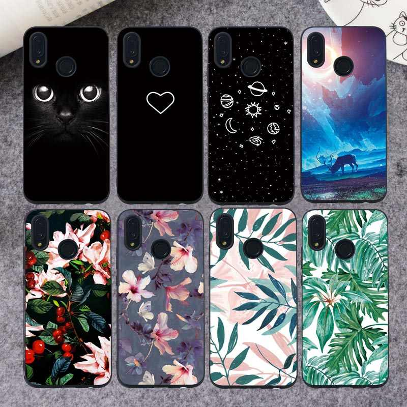 Demelfu Case For Huawei P Smart Plus 2019 P Smart 2018 Cases Cover Silicone For Huawei P Smart 2019 Flowers Starry Marbl Funda