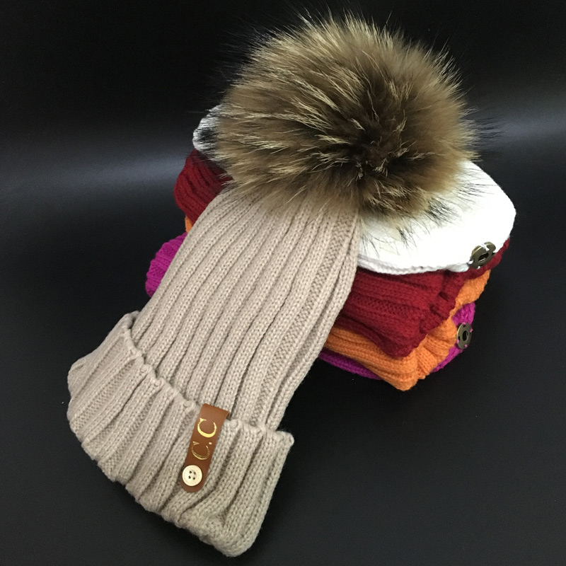 100% Real Mink 18cm Fur PomPoms hats Keep Warm Winter Hat For Women Girl 'S Hat Knitted Beanies Cap Thick Female Cap riveman car cigarette powered charging adapter charger w dual usb output for cell phone white