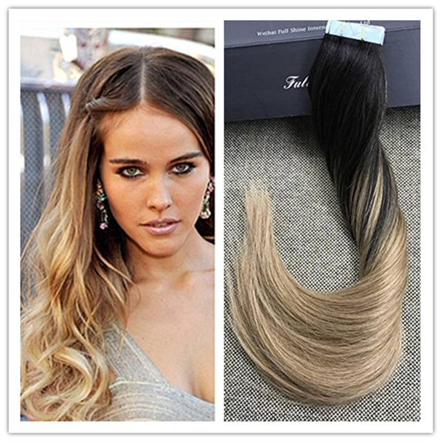 Full Shine Brazilian Remy Hair Balayge Remy Hair Glue In Real Hair