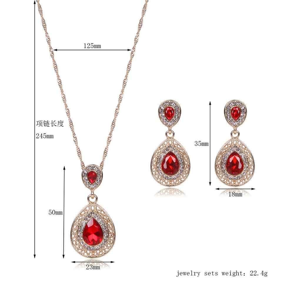 ashion New Women Black Austrian Crystal Necklace Earring Wedding/Bride Jewelry Set Gift