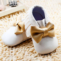 New  2016 Tassels Baby Moccasin Newborn baby Shoes bowknot Soft PU leather Prewalkers Boots fringe baby boy shoes
