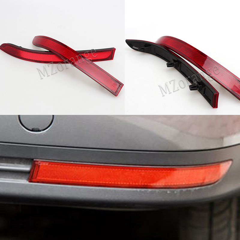 MIZIAUTO Rear Bumper Reflector For VW Touran 2008 2009 2010 Red False Light Brake Lamp Decorative Lights High Quality Wholesale in Car Light Assembly from Automobiles Motorcycles