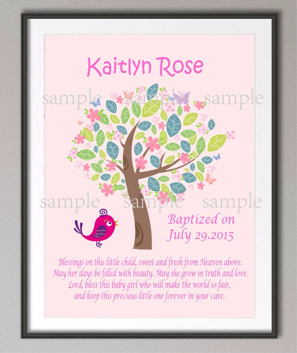 The Girls Baptism Gifts Canvas Painting Christening Holy Communion Familytree Wall Art Poster Print S Wall Painting Girls Baptism Gifts Canvas Painting Christening Holy Communion baby Baptism Gifts For Boys