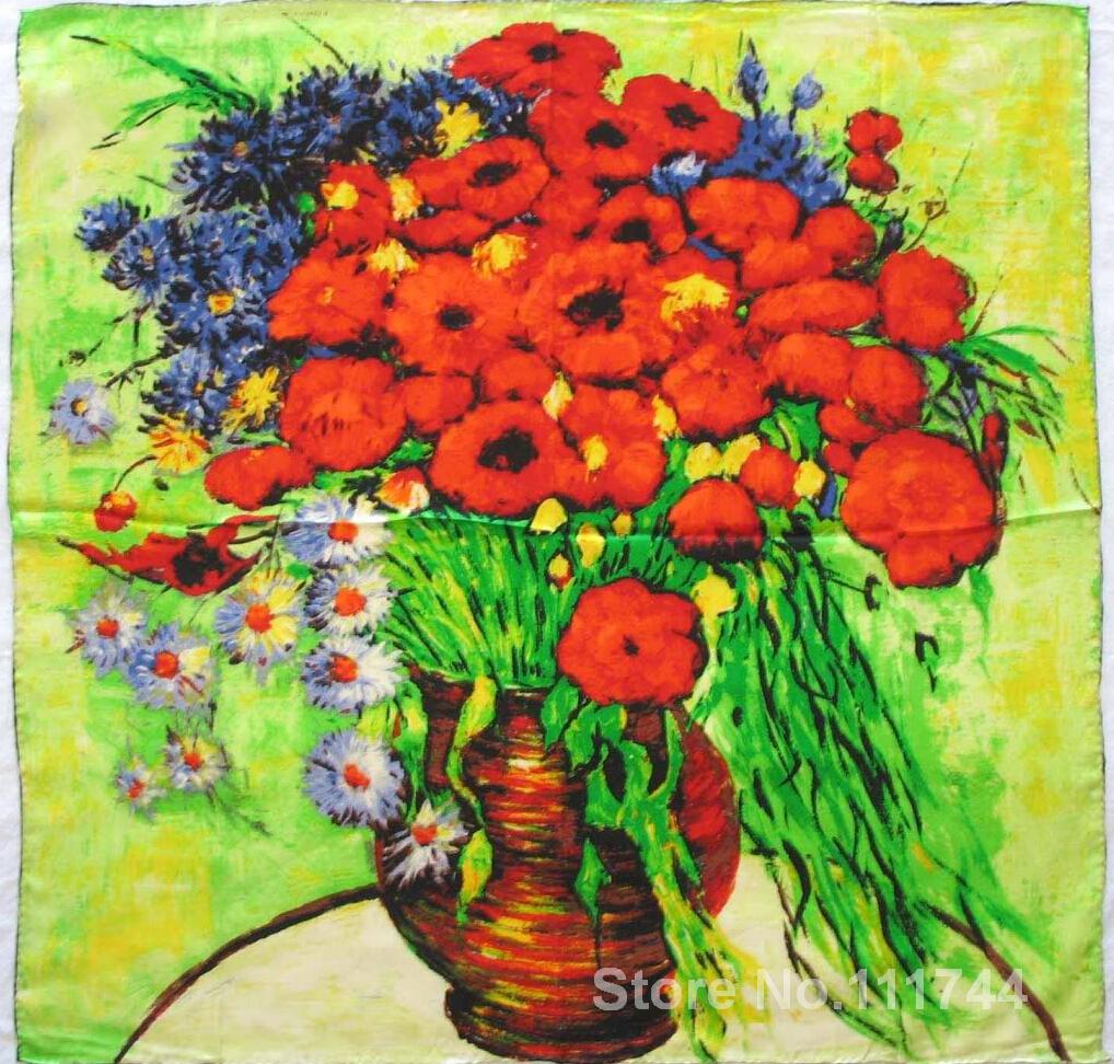 Modern art Vase With Daisies and Poppies II by Vincent Van Gogh paintings for living room Hand painted High qualityModern art Vase With Daisies and Poppies II by Vincent Van Gogh paintings for living room Hand painted High quality