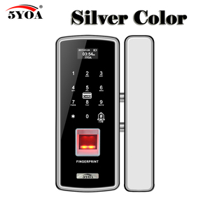 Image 2 - Szkło Blokada z użyciem linii papilarnych cyfrowy elektroniczny zamek do drzwi do domu Anti theft inteligentny hasło karty RFID samodzielny otwieracz do butelek inteligentny