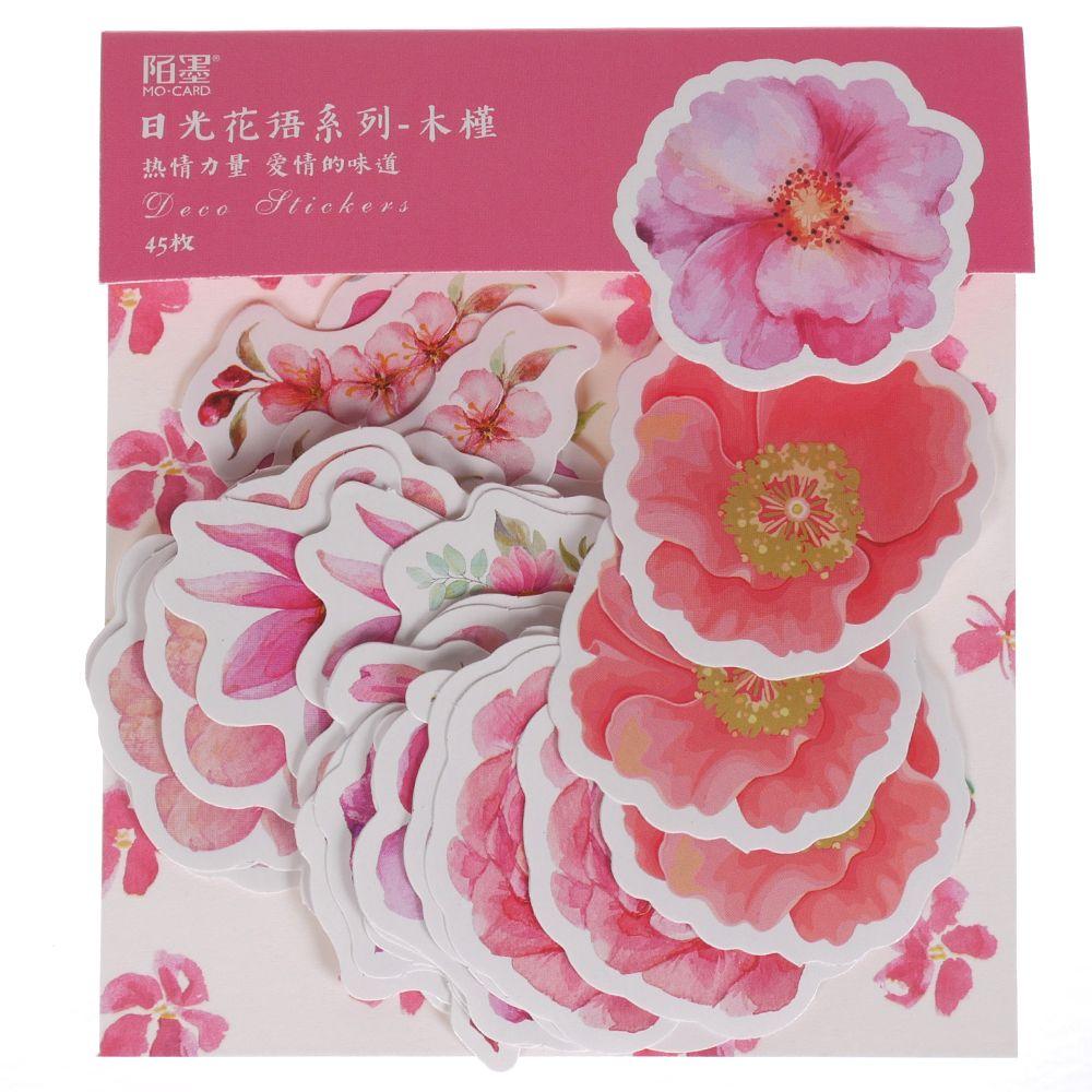 45Pcs//Pack Mohamm Kawaii Japanese Decoracion Journal Cute Diary Flower Stickers
