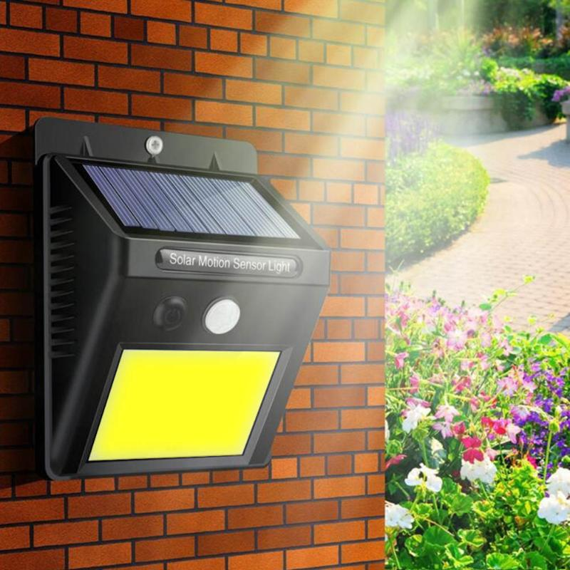 48LED Solar Light Human Body PIR Motion Sensor Wall Light Outdoor Waterproof Street Path Home Garden Energy Saving Lamp 48 LEDs