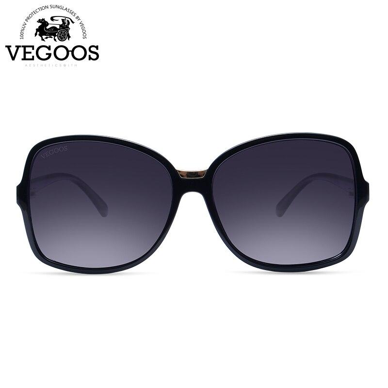 Vegoos Femelle TAC lunettes de Soleil Polarisées 2018 Nouvelles Femmes Surdimensionné Carré PC matériau du cadre Profession Anti-UV lunettes de soleil 9096 #