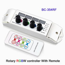 DC12-24V 5A*4CH rotary CV multi function light display LED RGBW Controller with wireless Remote for led strip tape