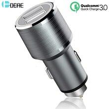 DCAE автомобильное зарядное устройство для телефона, 2 порта, быстрая зарядка 3,0, автомобильное зарядное устройство, быстрое автомобильное USB зарядное устройство для iPhone, samsung, huawei, Xiaomi, зарядное устройство для планшета