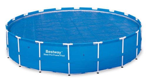 400micron Solar cover Bestway 18' Round Above Ground Swimming Pool Solar Heat Cover | 58173 58330 bestway 42 1 07m safety pool ladder specially designed ladder for above ground swimming pool of height 1m pool staircse