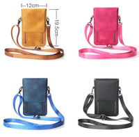 Lady Shoulder Belt Mobile Phone Leather Case Zipper Card Wallet Pouch For Galaxy S8 S8 Plus